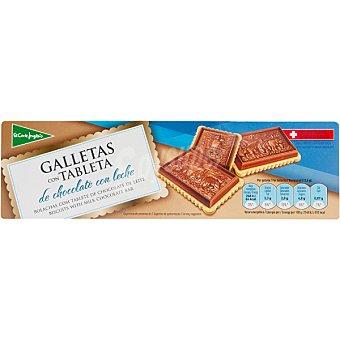 El Corte Inglés Galletas con tableta de chocolate con leche Estuche 125 g