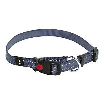 Biozoo Axis Collar nylon reflectante ajustable para perro color gris medidas 38-45 cm 1 unidad