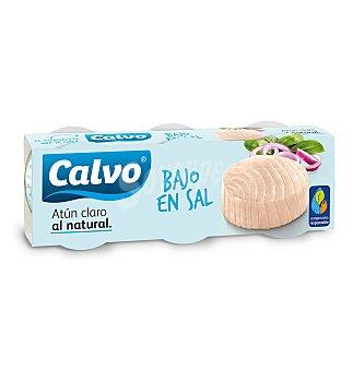 Calvo Atún natural bajo sal 3 unidades