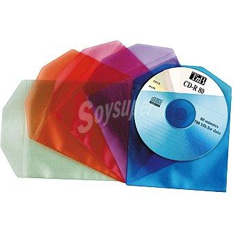 T'NB CDS-01 de cd's de colores Pack de 40 sobres