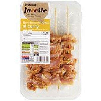 Eroski Faccile Pincho de pollo al curry Bandeja 350 g
