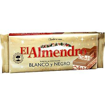 El Almendro Turrón de chocolate blanco y negro Estuche 300 g