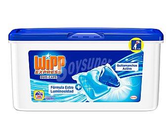 WIPP EXPRESS Duo-Caps Detergente máquina líquido quitamanchas activo envase 36 cápsulas Envase 36 c