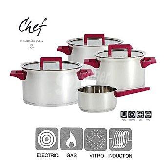 """Bateria de cocina 7 piezas Modelo """"chef de La Cartuja"""" 1 ud"""