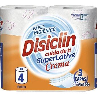 Disiclin papel higiénico super rollo perfumado el triple de papel en cada rollo  paquete 4 rollos