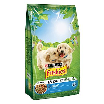 Friskies Purina Alimento de pollo perro junior Saco 7,5 kg