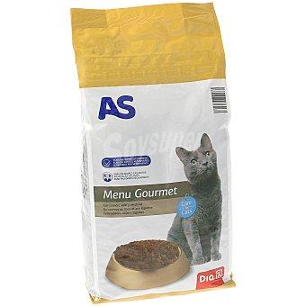 AS Alimento completo para gatos menu gourmet salmón y atún bolsa 2 Kg Bolsa 2 Kg