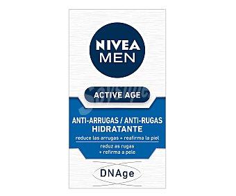 Nivea For Men Crema antiarrugas hidratante reduce las arrugas y reafirma la piel Active Age Tarro 50 ml