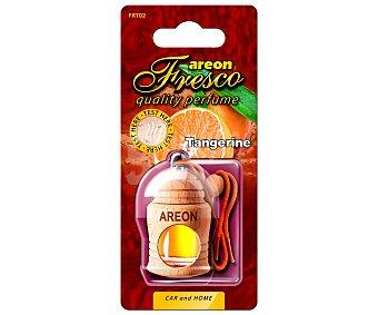 AREON Ambientador de coche con perfumador de madera para colgar con olor a mandarina 1 unidad