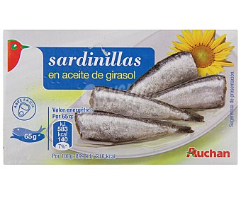 Auchan Sardinillas en Aceite de Girasol 65 Gramos
