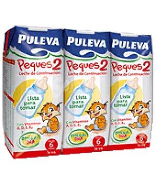 Puleva Leche de continuación peques 2 Pack de 3x250 ml