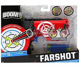 BOOM CO Lanzador de Dardos Blaster Farshot con 3 Dardos 1 Unidad