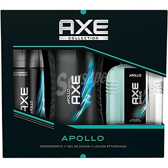 Axe Pack Apollo con desodorante + gel de baño frasco 250 ml + after shave frasco 100 ml Spray 150 ml