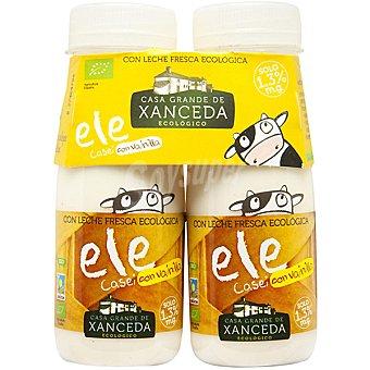 Casa Grande de Xanceda Yogur líquido ecológico sabor vainilla Pack de 2x165 g
