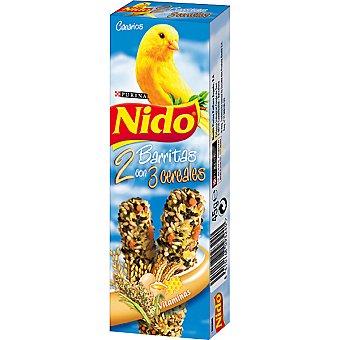 Nido Purina Barritas con 3 cereales para canarios 2 unidades estuche 45 g 2 unidades