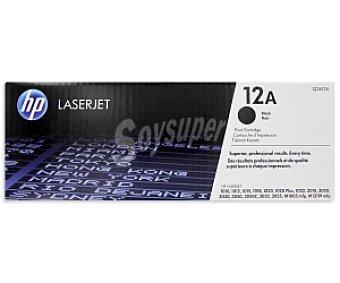 HP Tóner Láser Q2612A Negro Compatible con impresoras: 1010 / 1012 / 1015 / 1018 / 1020/ 1020 Plus / 1022 / 3015 / 3020 / 3030 / 3050 / 3050Z / 3052 / 3055 / M1005 mfp / M1319f mfp