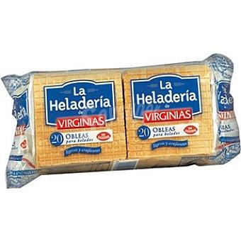 LA HELADERÍA VIRGINIAS Obleas para helados Envase 20 unidades