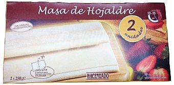 Hacendado Masa hojaldre congelada extendida 2 laminas (la que sube) Paquete 500 g