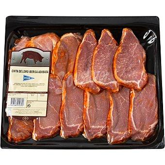 Hipercor Lomo adobado de cerdo ibérico en filetes peso aproximado Bandeja 600 g