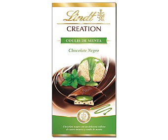 Lindt Chocolate negro con coulis de menta creation 100 g
