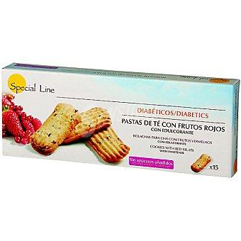 Special Line pastas de té con frutos rojos sin azúcar aptas para diabéticos  envase 205 g