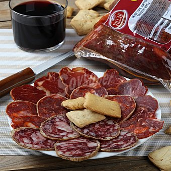 Villar Lote embutido ibérico: Lomo cebo 275 g. + Chorizo extra 275 g. + Salchichón extra 275 g. 1 ud