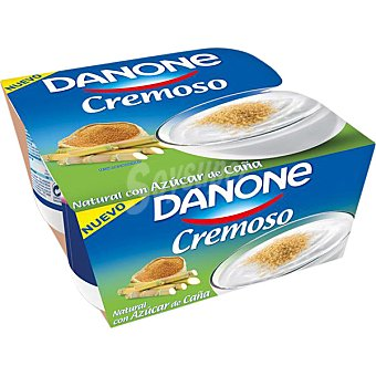 Danone Yogur cremoso con azúcar de caña 4 unidades de 120 g