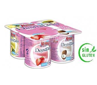 Kalise Yogur desnatado sabor fresa Pack de 4x125 g
