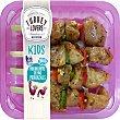 Kids mini brochetas de pavo provenzales sin gluten y sin lactosa peso aproximado bandeja 500 g bandeja 500 g TURKEY LOVERS