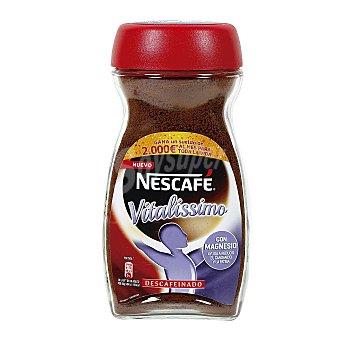 Nescafé Café descafeinado soluble, Vitalissimo con magnesio ayuda a reducir el cansancio y la fatiga Frasco 200 g