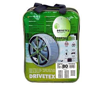 DRIVETEX Cadenas de nieve textiles, número 80 2 unidades