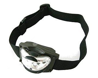 EUROBRIC Linterna para casco, inclinable y con 3 leds, 2 leds de luz blanca y 1 led de luz roja 1 unidad