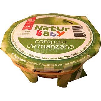 NATURBABY Compota de manzana sin azúcar añadida Tarrina 130 g