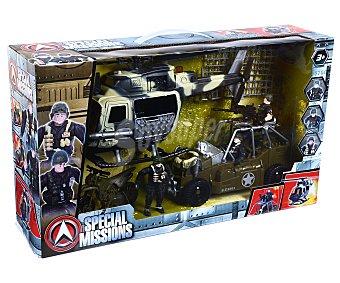 Special missions Escenario de juego Patrulla de rescate con vehículos, accesorios y 2 figuras 1 unidad