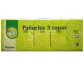 Productos Económicos Alcampo Pañuelos de celulosa 10 paquetes de 10 uds