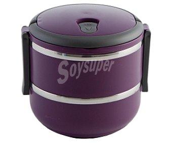 QUID Recipiente isotérmico doble para alimentos sólidos, modelo go!, color morado, 1,4 litros 1,4L