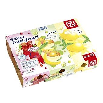DIA Postre gelificado de fresa, limón y multifrutas Pack 12 unidades 100 gr