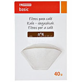 Eroski Filtro cafetera 1X4 40u