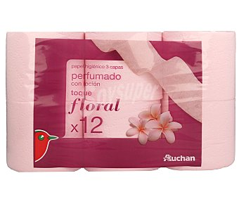 Auchan Papel Higiénico 3 Capas Perfumado 12 rollos