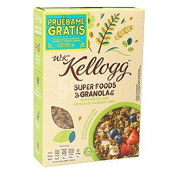 Kellogg's Cereales wk granola con semillas de calabaza y chía Caja 300 gr