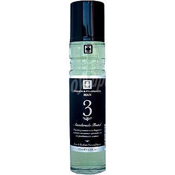 FASHION & FRAGANCES nº 3 amaderado frutal eau de parfum natural man Spray 125 ml