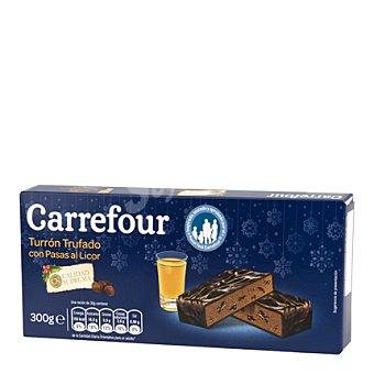 Carrefour Turrón trufado con pasas al licor 300 g