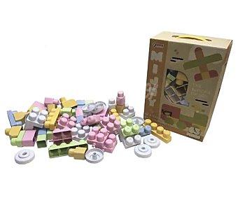 MIJOY Conjunto de 63 bloques de construcción grandes de colores pastel, mijoy.