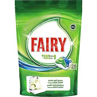 FAIRY Detergente lavavajillas todo en 1 28 pastillas