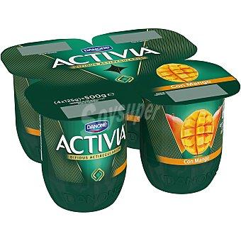 Activia Danone Yogur con mango  Pack 4 u x 125 g