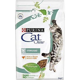 Purina Cat Chow Pienso para gatos adultos Cat Chow Sterilized pollo 3 Kg