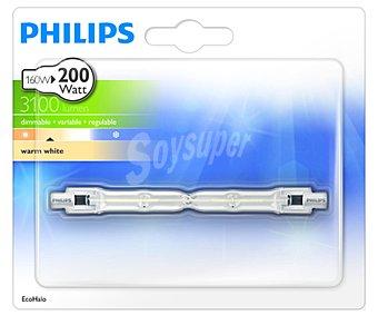 Philips Bombilla ecohalógena 160 Watios, con casquillo R7S y luz cálida 1 unidad