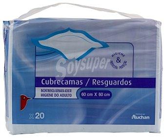 Auchan Cubrecamas 60x60cm 20 Unidades