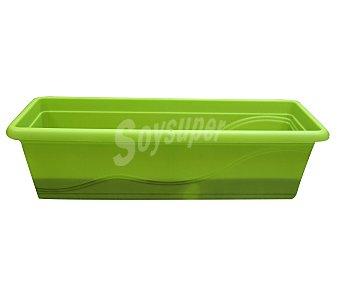 VAN Jardinera plástica, lisa, de color verde, con sistema de autorriego 1 unidad