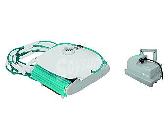 KOKIDO Robot limpiafondos modelo Turbotrak, recomendado para piscinas de hasta 100 m² ya que cuenta con una potencia de filtrado de 13m³/h y cualquier tipo de revestimiento GRE 1 unidad 1 unidad